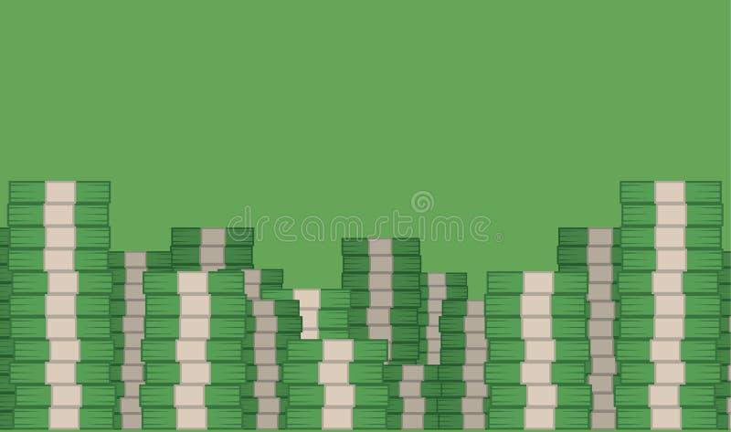 Soldi impilati illustrazione di stock