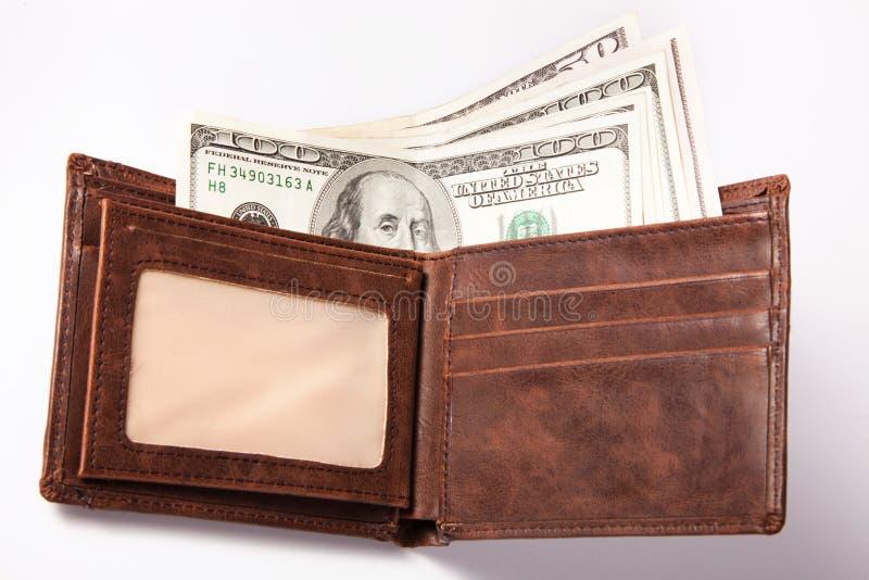 Soldi in portafoglio immagini stock
