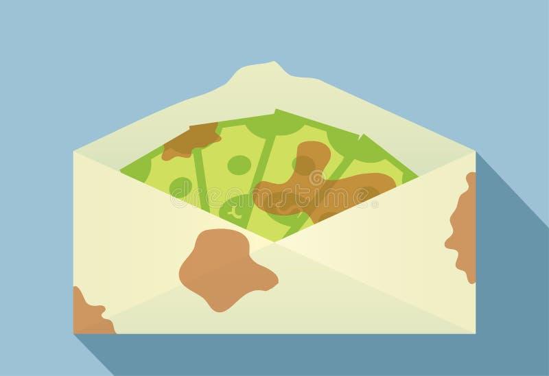 Soldi sporchi in busta illustrazione vettoriale