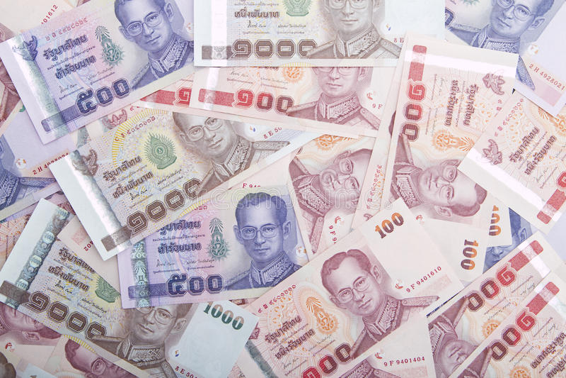 Soldi tailandesi fotografie stock
