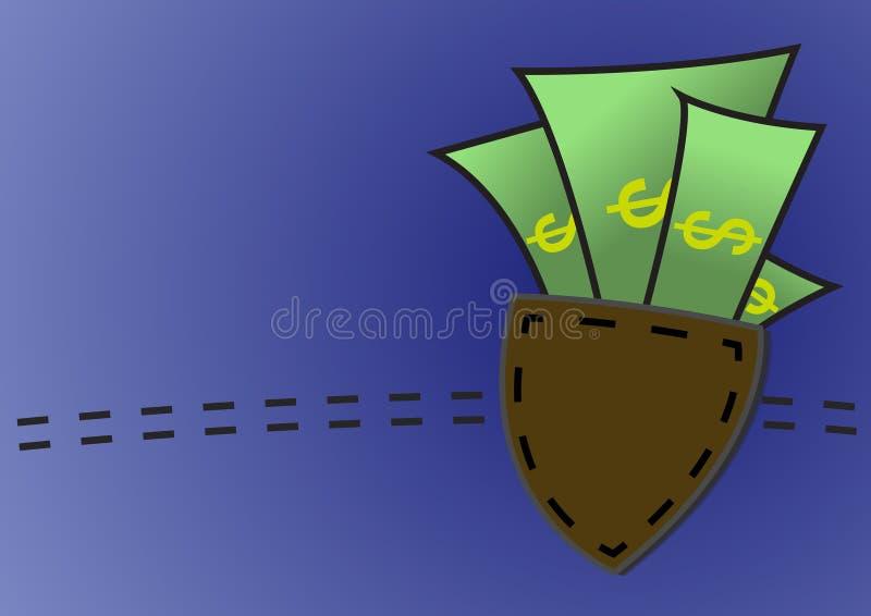 Download Soldi In Un Fondo Della Tasca Illustrazione Vettoriale - Illustrazione di isolato, economia: 56875593