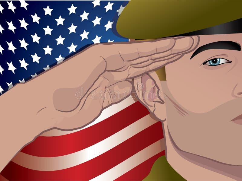 Download Soldier stock vector. Image of uniform, saluting, stars - 12041726