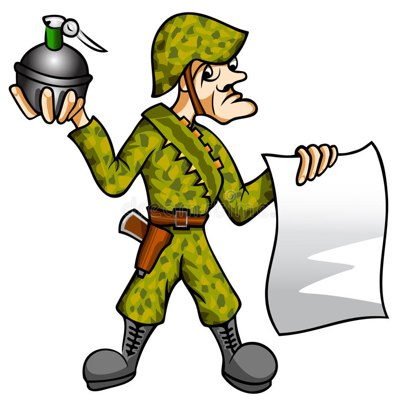 Download Soldier stock illustration. Illustration of hardware - 12576394