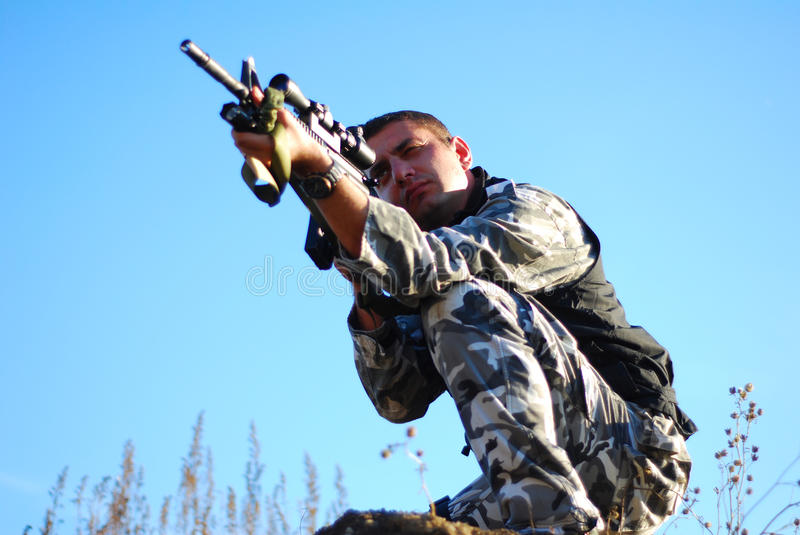 Download Soldier stock photo. Image of assault, outdoor, camouflage - 16989834
