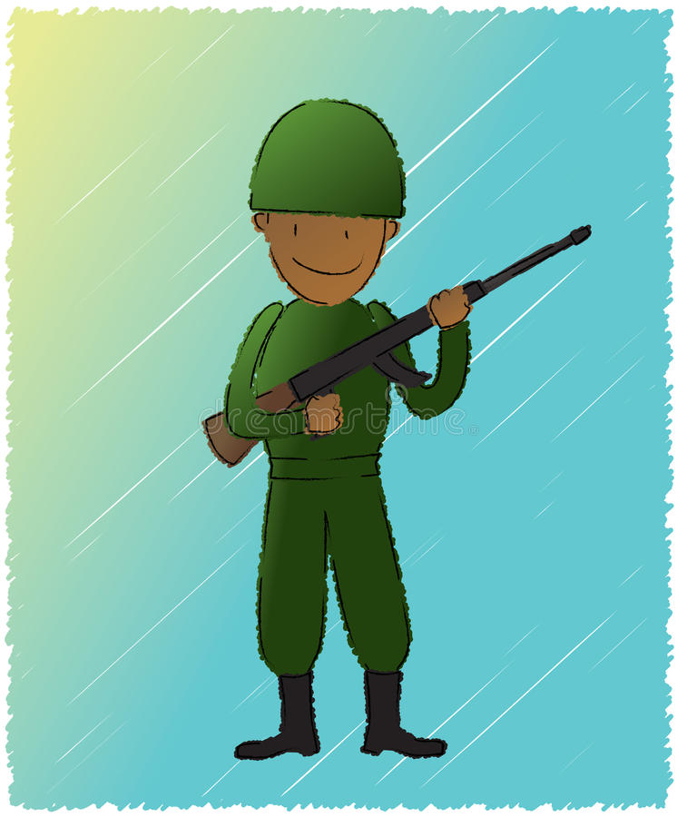 Download Soldier stock vector. Image of helmet, boot, squad, smiling - 25726767