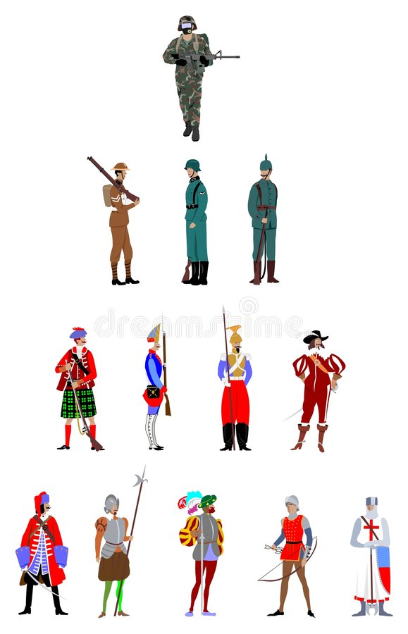 Download Soldier stock vector. Image of archer, infantry, rifleman - 3478524