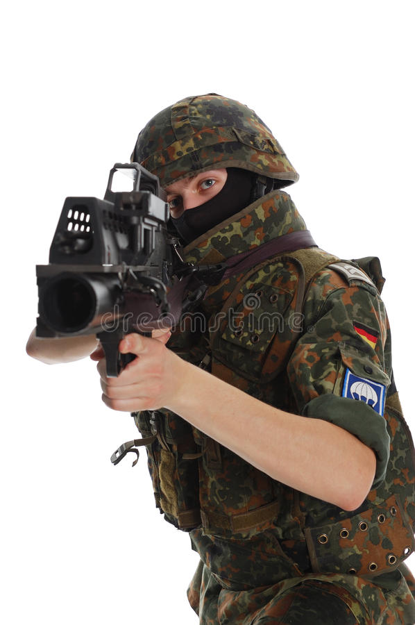 Download Soldier of the Bundeswehr. stock image. Image of forces - 9802743