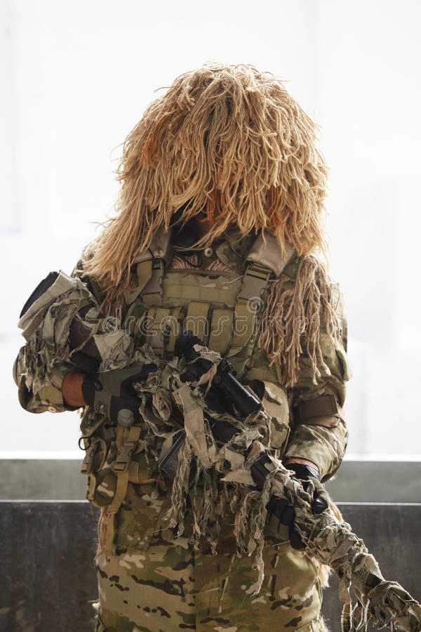Download Soldier with camouflage editorial photography. Image of khaki - 21349257