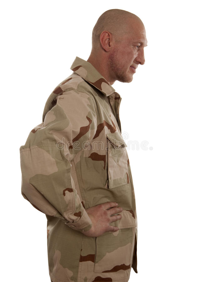 Soldier in camouflage royalty free stock photo