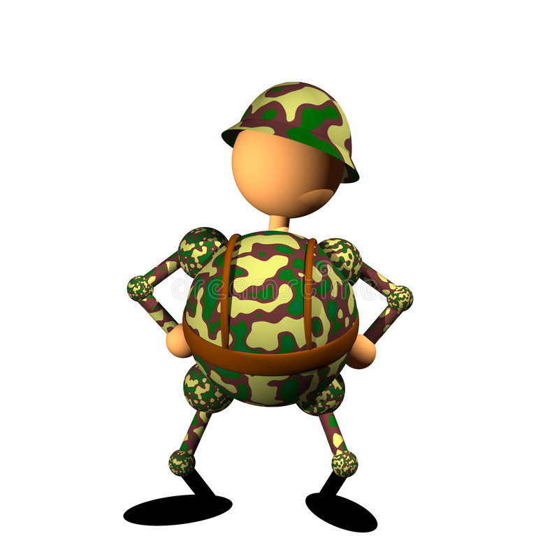 Soldier clipart royalty free illustration