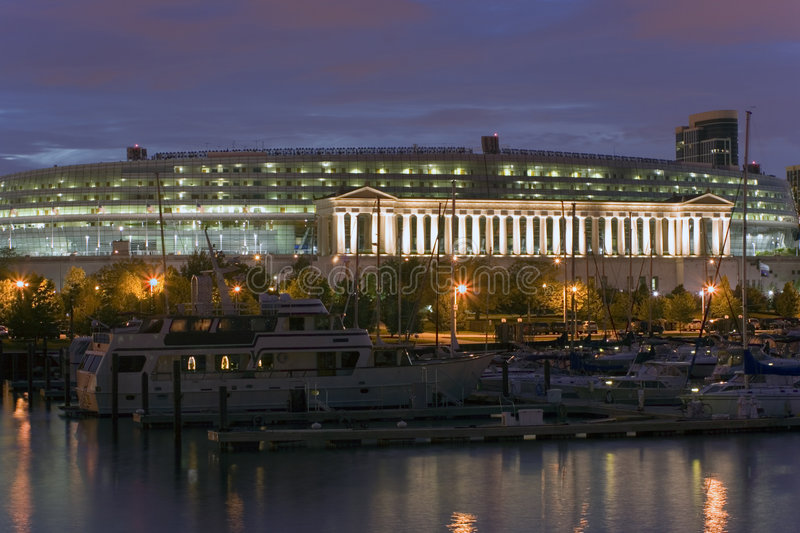 Soldier Field, Chicago stock images