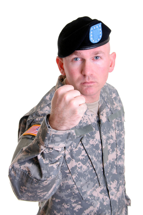 Soldier Fight royalty free stock image