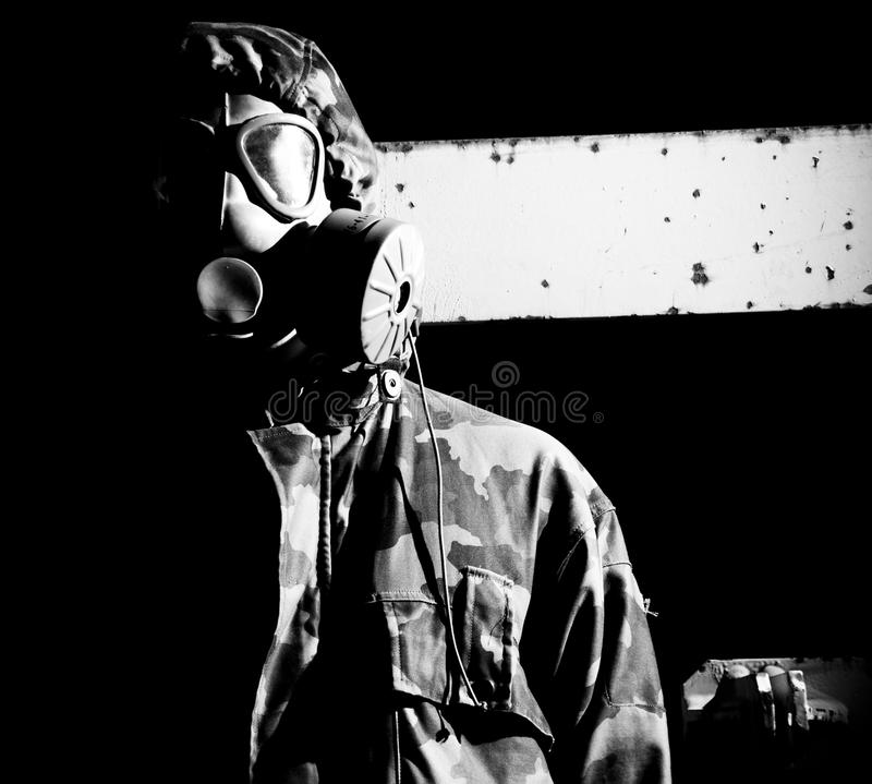 Soldier In Gasmask Royalty Free Stock Images