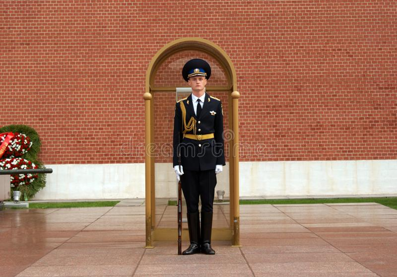 Soldier of the Guard of honor royalty free stock images