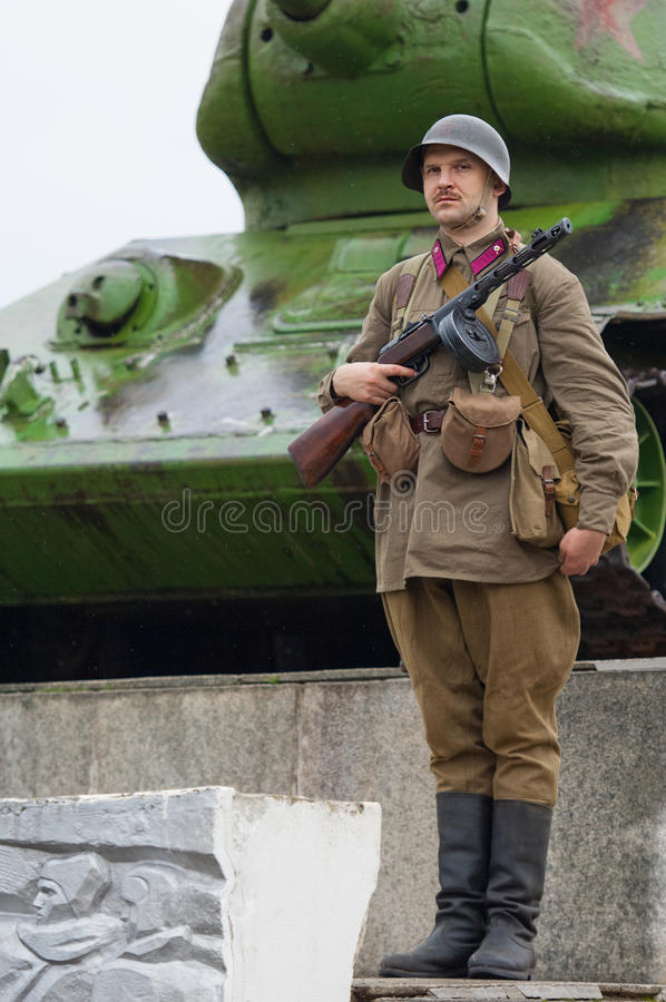Soldier on guard of honour royalty free stock image