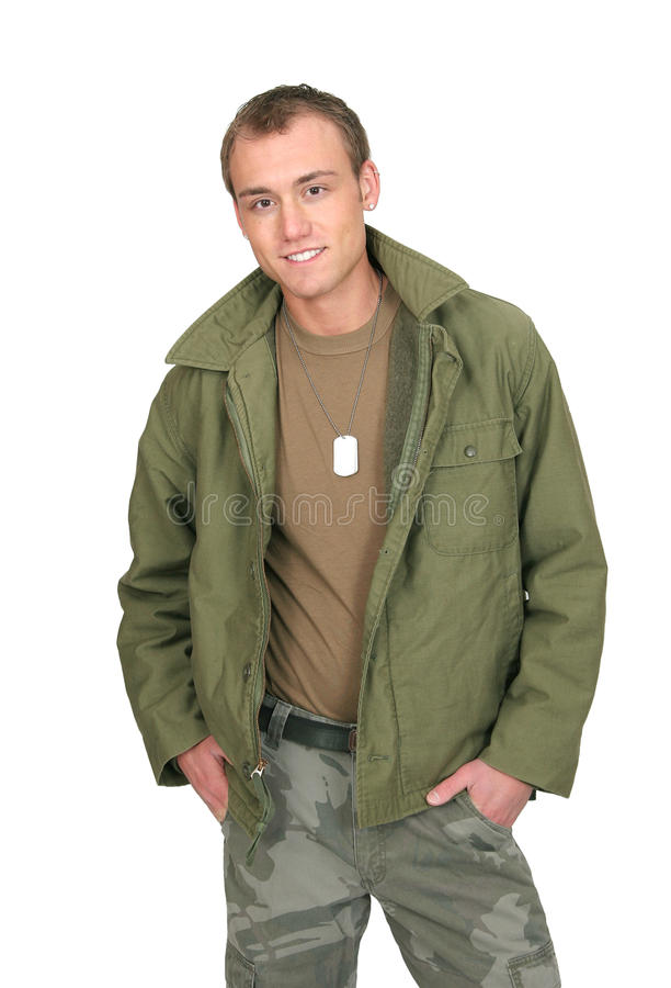 Soldier guy stock image