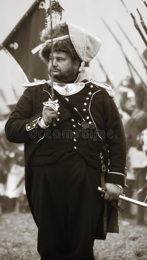 Soldier Holding A Rapier At Historical Reenactment Editorial Photography