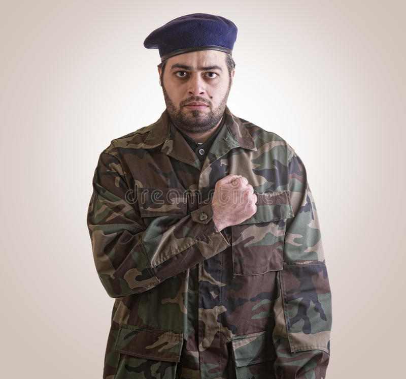 A Soldier Honoring Ready For Sacrifice Stock Image
