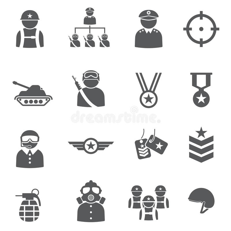 Soldier icon set stock images