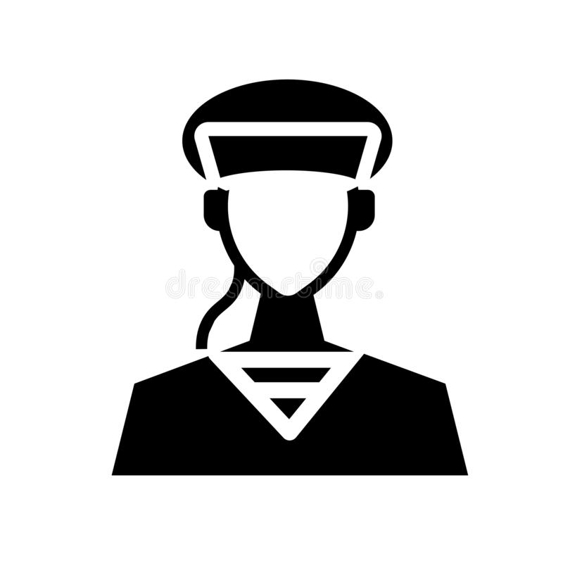 Soldier icon. Trendy Soldier logo concept on white background fr stock illustration
