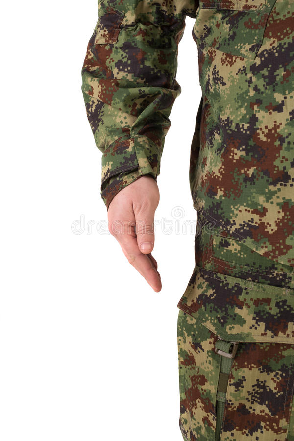 Soldier isolated. In white background stock photos