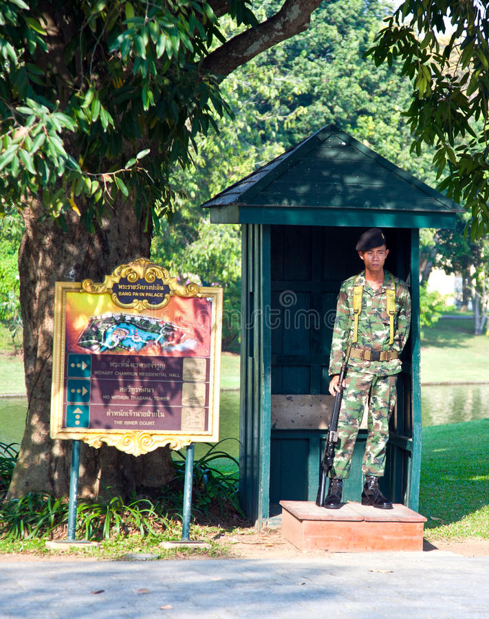 Soldier Of The Kings Guard In The Summer Palace Bang Pa In In Ayutthaya Editorial Stock Photo