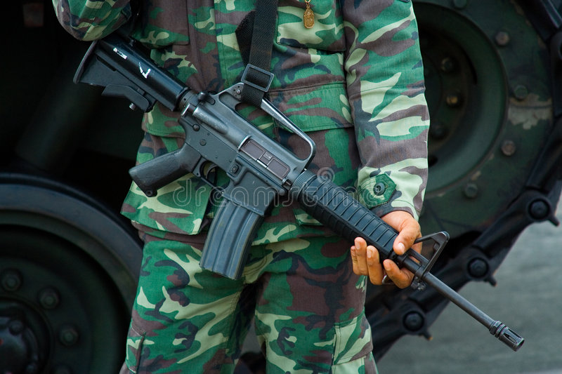 Download Soldier With M-16 Military Rifle Stock Photo - Image: 2017060