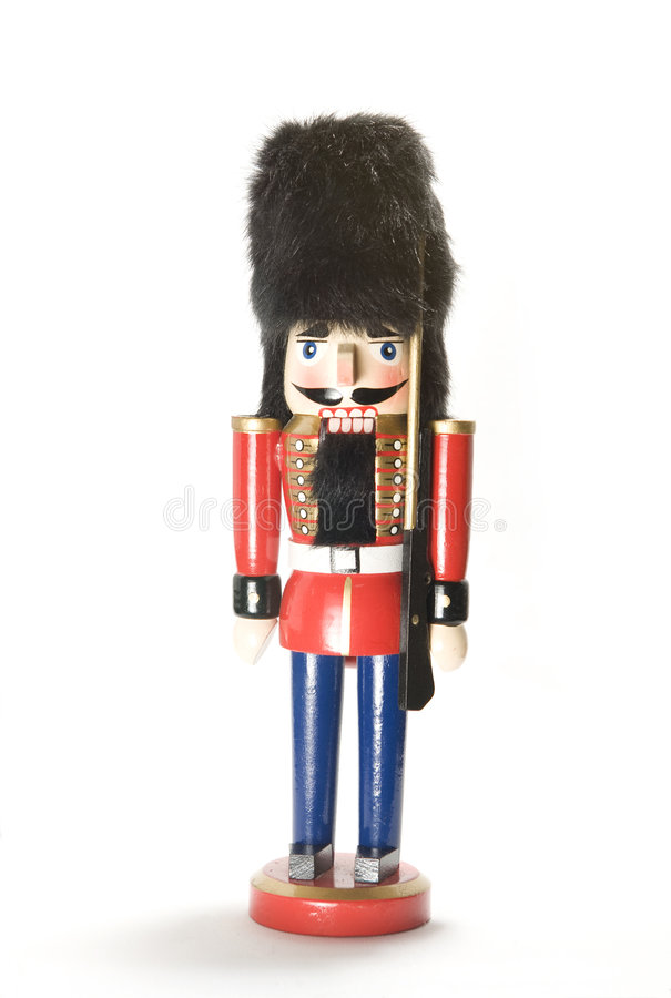 Soldier nutcracker royalty free stock image