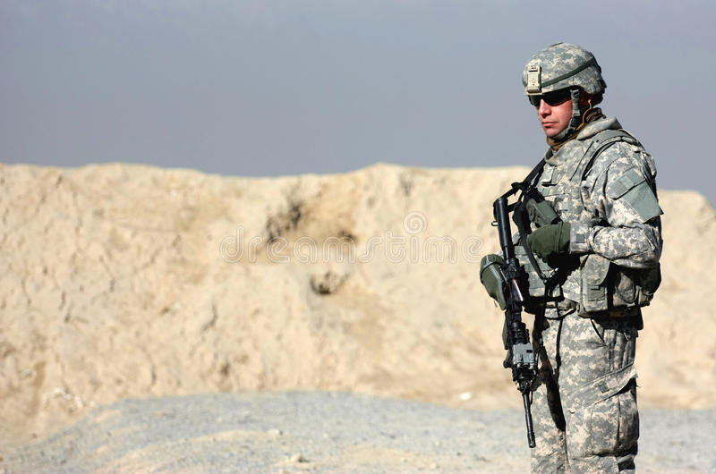 A soldier outdoor stock photography