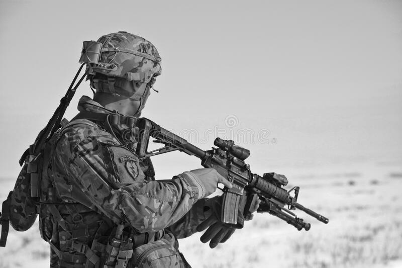 Soldier On Patrol With Rifle Free Public Domain Cc0 Image