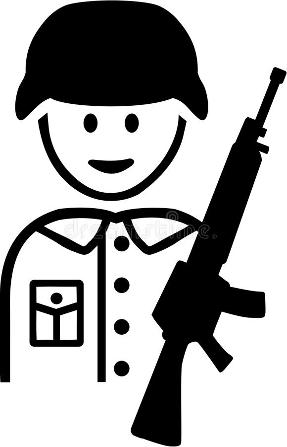 Soldier Pictogram. Vector occupation vector vector illustration