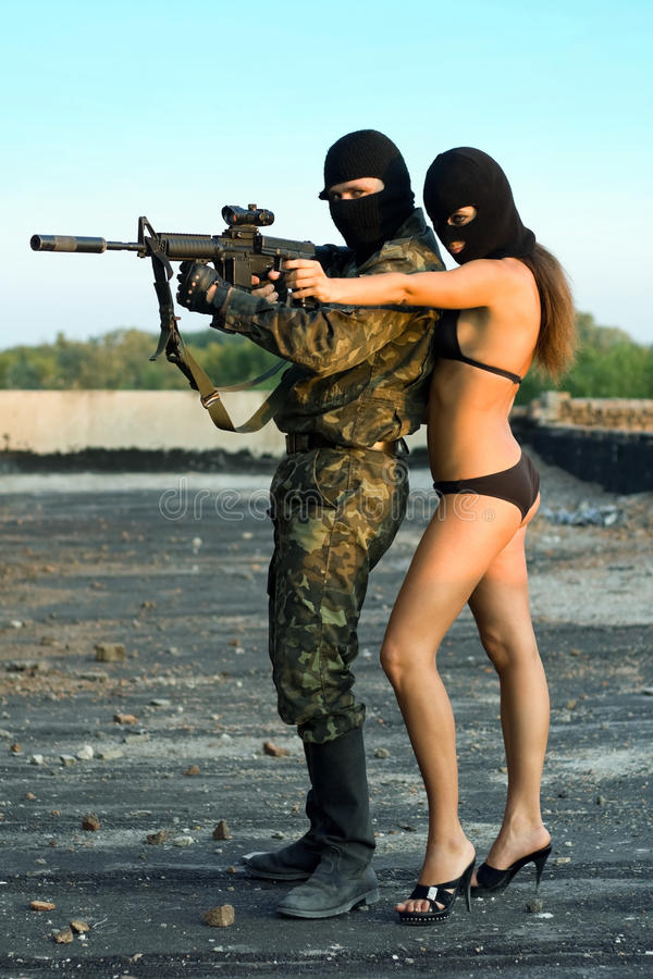 Download Soldier and pretty woman stock image. Image of attractive - 13206931