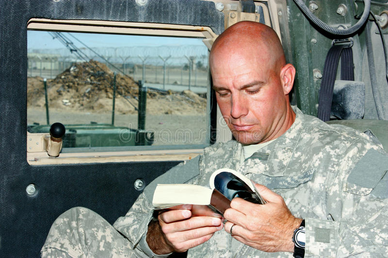 Download A Soldier Reading Stock Photography - Image: 19288412