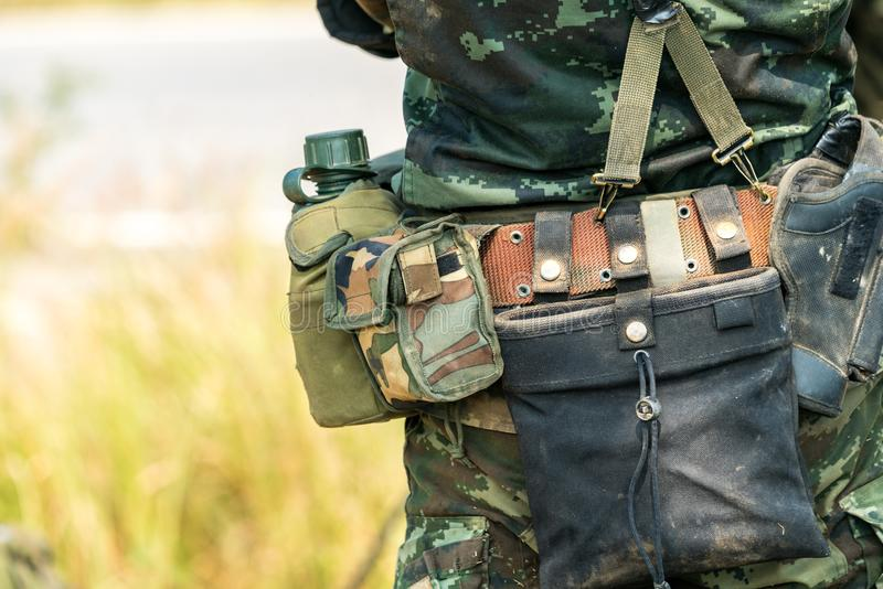 Soldier ready for war combat stock photo