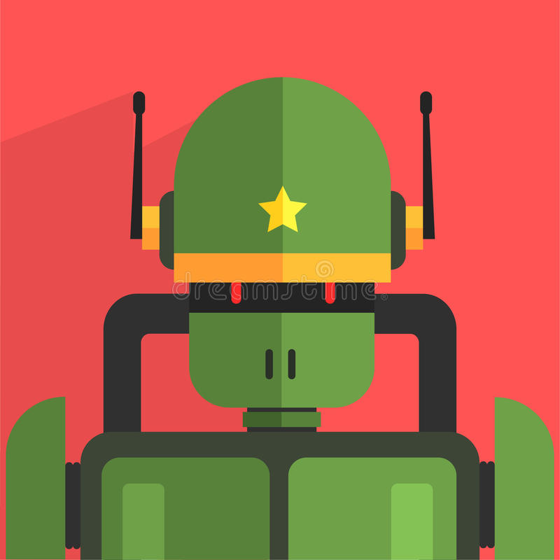 Soldier Robot Character stock illustration