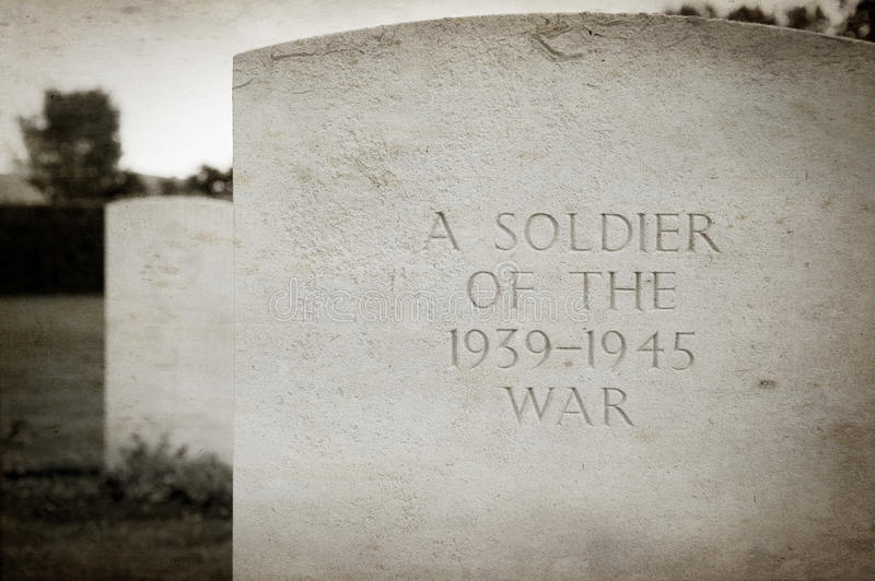 Soldier's grave. A grave of second world war soldier royalty free stock photo