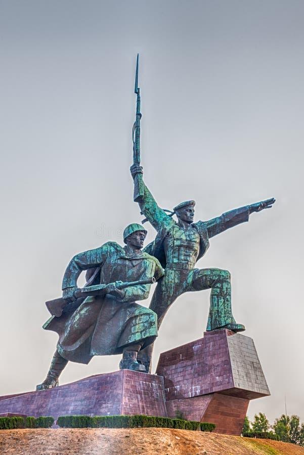 Soldier and Sailor Memorial to Heroic Defenders of Sevastopol, royalty free stock image