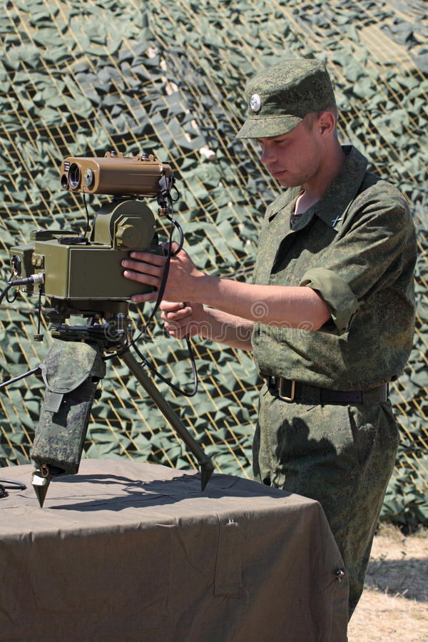 Soldier Show Range Finder Possibilities. Editorial Stock Photo