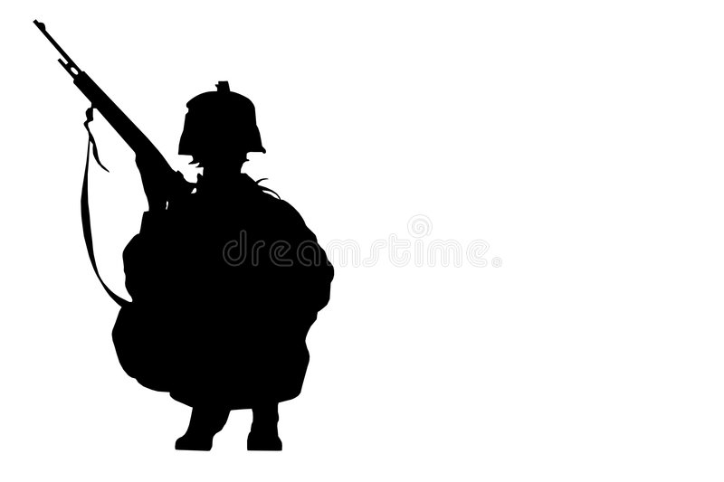 Download Soldier sit stock illustration. Image of arms, weapon - 5594611