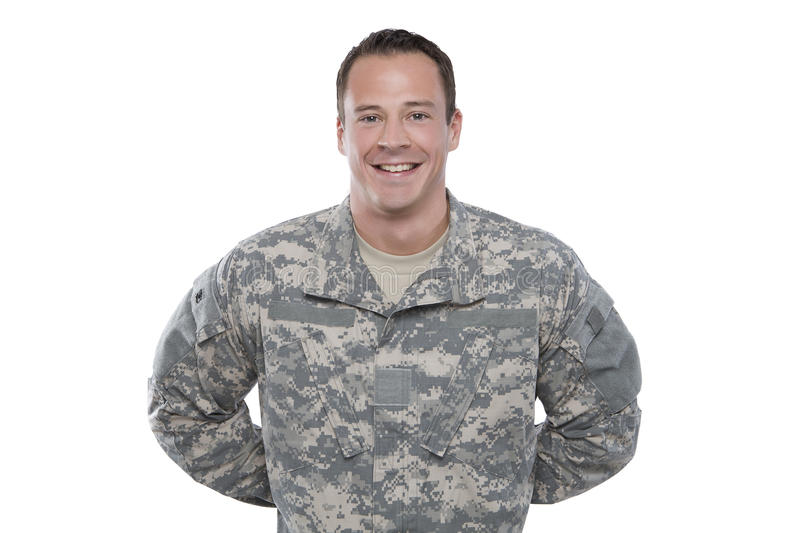 Soldier Standing At Parade Rest Royalty Free Stock Images