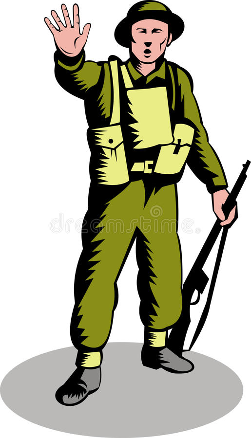 Download Soldier Telling You To Stop Stock Vector - Image: 10844436