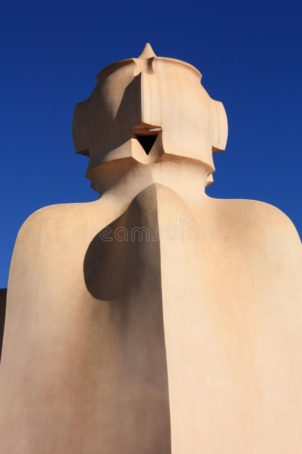 Soldier on terrace of La Pedrera or Casa Mila