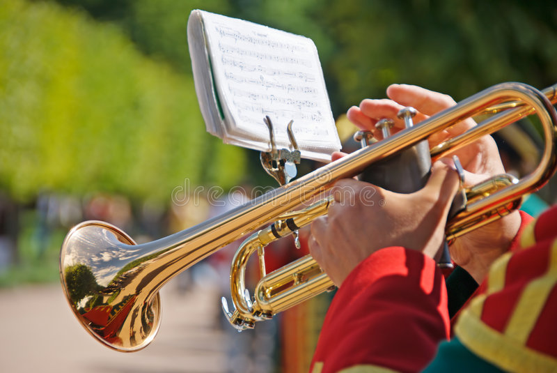 Soldier with Trumpet stock image