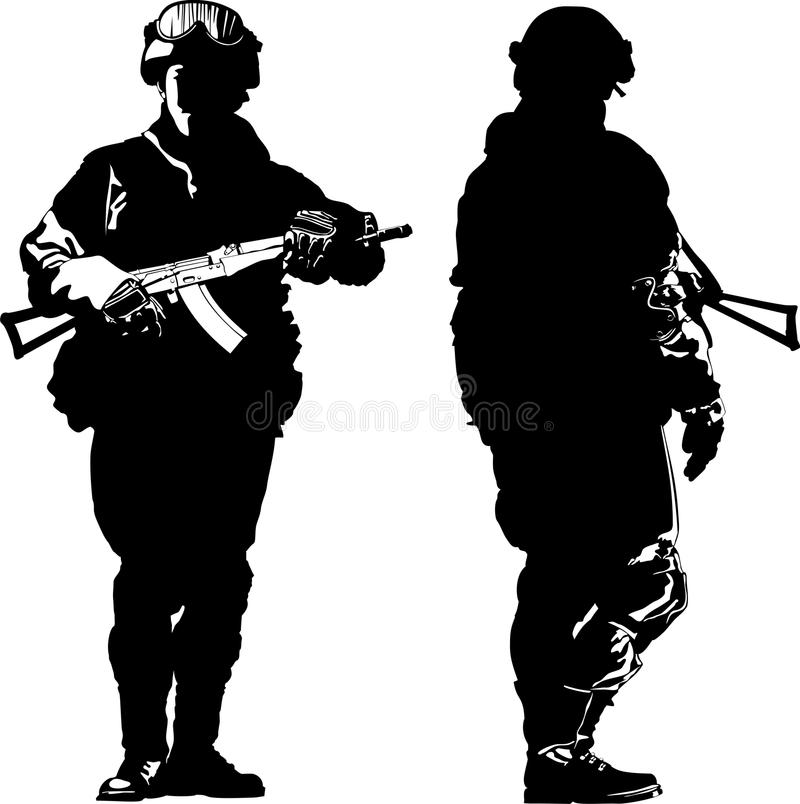 soldier stock vector illustration of illustration vector 71882524 rh dreamstime com soldier vector png vector soldier
