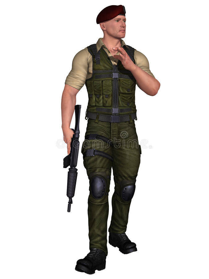 Download Soldier With Weapon Stock Image - Image: 21062291