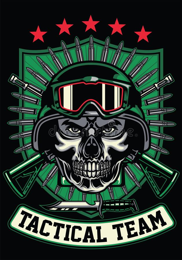 Soldier wearing skull mask. Vector of soldier wearing skull mask vector illustration