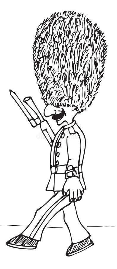 British Royal Guard cartoon stock illustration