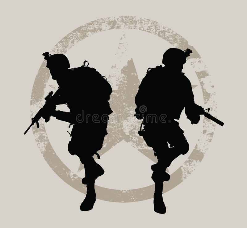 Soldiers vector illustration