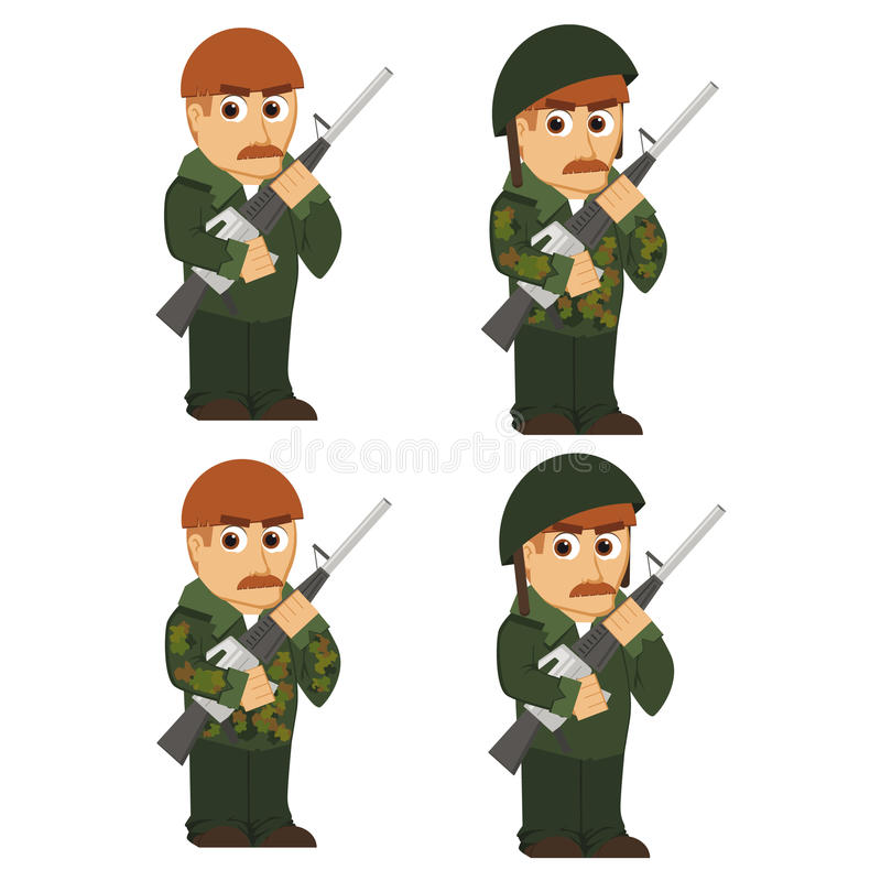 Download Soldiers stock vector. Image of computer, camouflage - 28958988