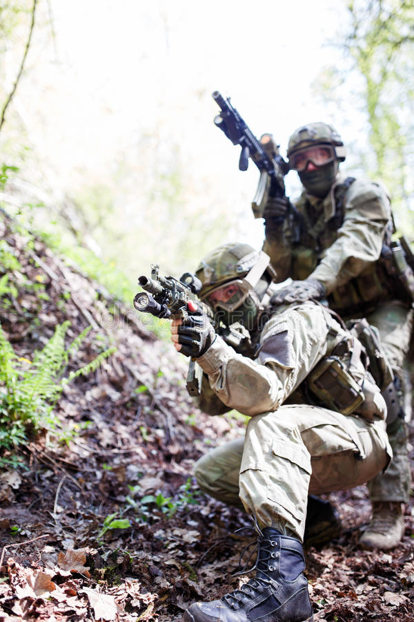 Soldiers of army in operation royalty free stock photos